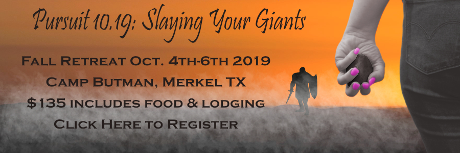 Pursuit 10.19: Slaying Your Giants